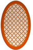 rug #862903 | oval red-orange borders rug