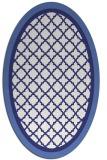 rug #862915 | oval white borders rug