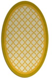 rug #862931 | oval yellow traditional rug
