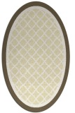 rug #862935 | oval yellow borders rug