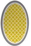 rug #862943 | oval white borders rug