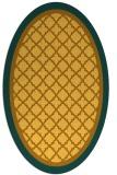 rug #862947 | oval yellow rug
