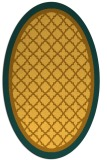 rug #862947 | oval light-orange rug