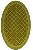 rug #862955 | oval light-green borders rug
