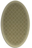 rug #862959 | oval light-green borders rug