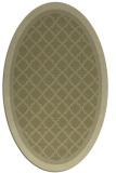 rug #862959 | oval light-green rug