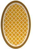rug #862971 | oval light-orange borders rug