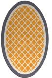 rug #862983 | oval light-orange borders rug