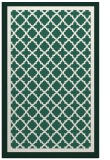 rug #863099 |  blue-green borders rug