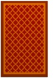 rug #863215 |  orange traditional rug