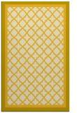 rug #863267 |  yellow traditional rug