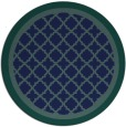 rug #863347 | round blue traditional rug