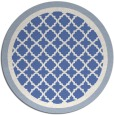 rug #863355 | round blue traditional rug
