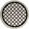 rug #863371 | round blue-green borders rug