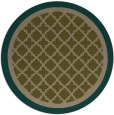 rug #863423 | round mid-brown traditional rug