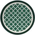rug #863435 | round blue-green borders rug