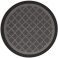rug #863447 | round brown borders rug