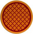 rug #863499 | round red-orange borders rug