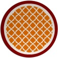 rug #863503 | round orange borders rug