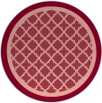 rug #863523   round pink borders rug