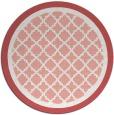 rug #863527   round pink borders rug