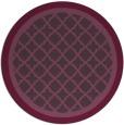 rug #863531   round purple borders rug
