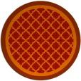 rug #863551 | round orange borders rug