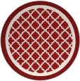 rug #863555 | round red traditional rug
