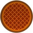 rug #863563 | round red-orange borders rug