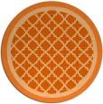 rug #863567   round red-orange traditional rug