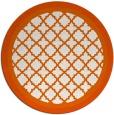 rug #863575 | round red-orange borders rug
