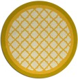 rug #863603 | round yellow traditional rug