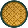 rug #863619 | round yellow rug