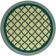 rug #863623 | round yellow traditional rug