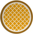 rug #863643   round light-orange traditional rug