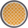 rug #863655 | round light-orange borders rug