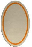 rug #873147 | oval plain orange rug