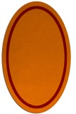 rug #873339 | oval plain red-orange rug