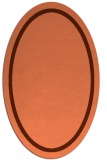 rug #873351 | oval red-orange borders rug