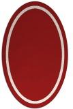 rug #873395 | oval red borders rug