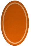 rug #873407 | oval plain red-orange rug