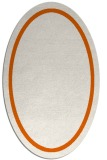 rug #873415 | oval plain red-orange rug