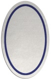 rug #873427 | oval white borders rug