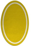 rug #873455 | oval yellow borders rug