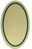 rug #873463 | oval plain yellow rug