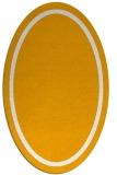rug #873483 | oval plain light-orange rug