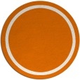 rug #874047 | round plain orange rug