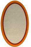 rug #878427 | oval orange borders rug