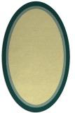 rug #878743 | oval plain yellow rug