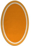 rug #878771 | oval plain light-orange rug